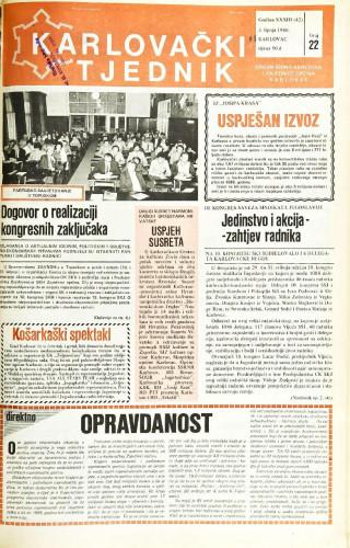 Karlovački tjednik: 1986 • 22