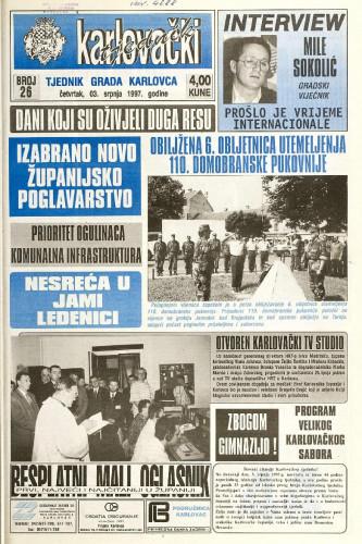Karlovački tjednik: 1997 • 26