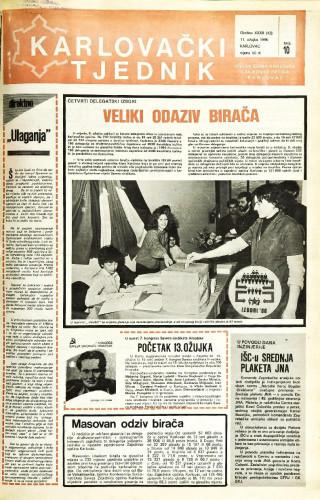 Karlovački tjednik: 1986 • 10