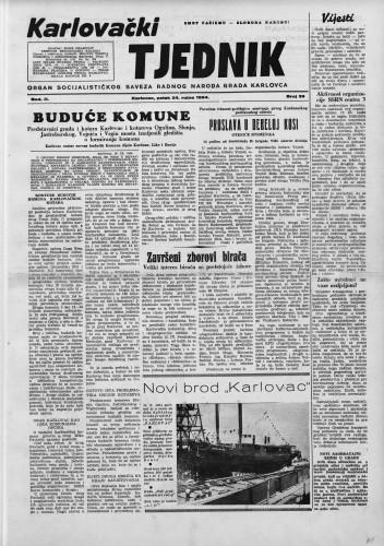Karlovački tjednik: 1954 • 39