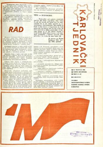 Karlovački tjednik: 1988 • 17/18