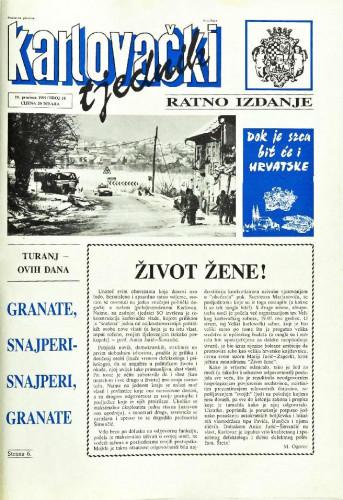 Karlovački tjednik: 1991 • 51