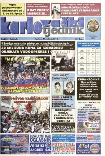 Karlovački tjednik: 2003 • 22