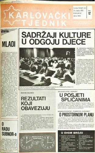 Karlovački tjednik: 1987 • 12