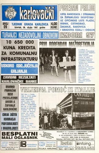 Karlovački tjednik: 1997 • 9