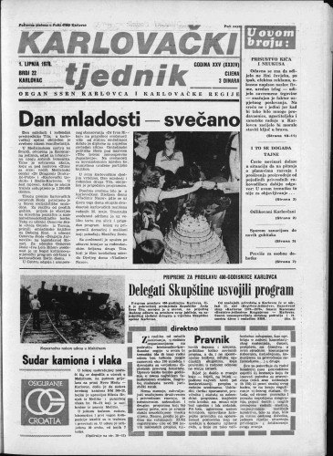 Karlovački tjednik: 1978 • 22