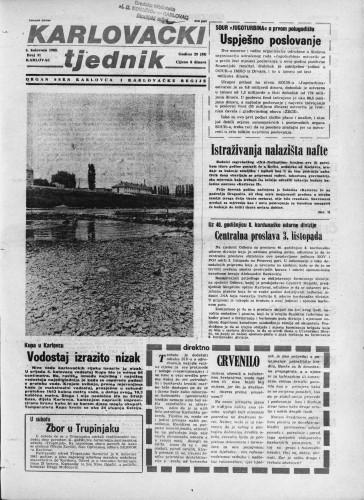 Karlovački tjednik: 1982 • 31