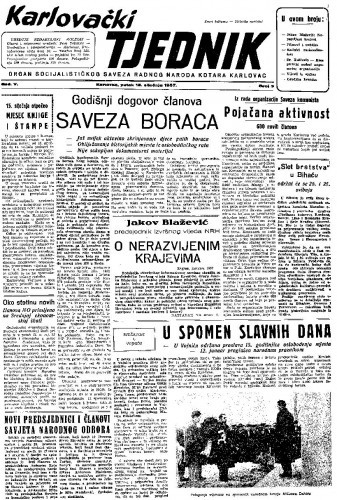 Karlovački tjednik: 1957 • 3