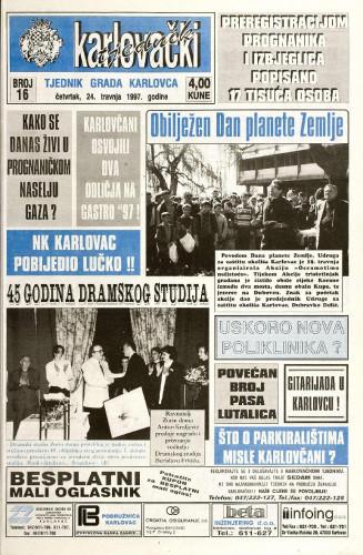 Karlovački tjednik: 1997 • 16