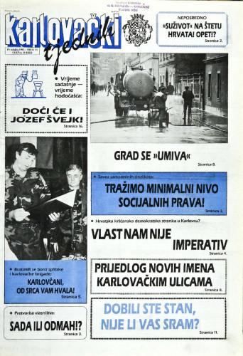 Karlovački tjednik: 1992 • 11
