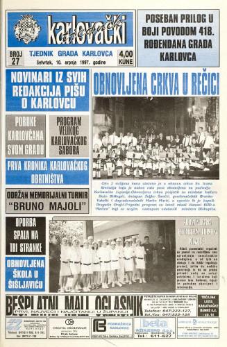 Karlovački tjednik: 1997 • 27