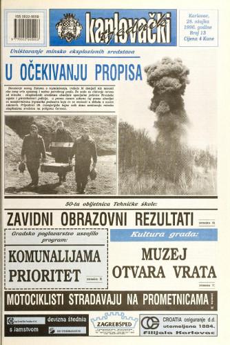Karlovački tjednik: 1996 • 13