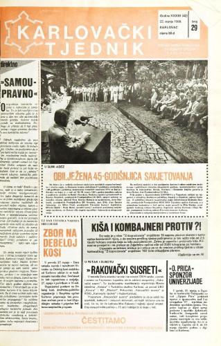 Karlovački tjednik: 1986 • 29