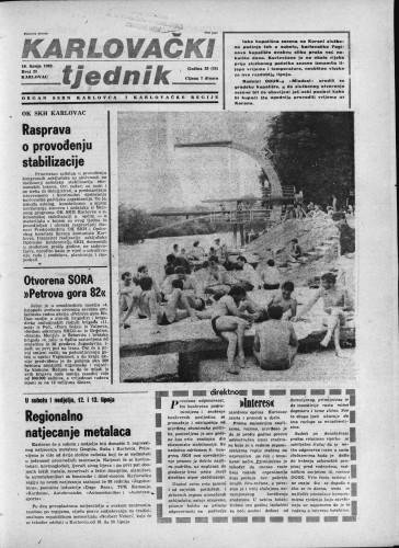 Karlovački tjednik: 1982 • 23