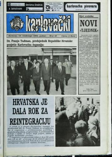 Karlovački tjednik: 1994 • 45