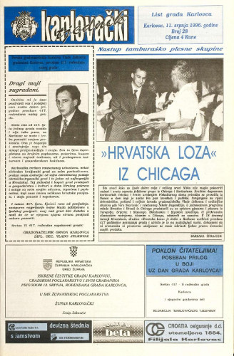 Karlovački tjednik: 1996 • 28