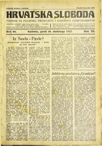 Hrvatska sloboda: 1927. • 46