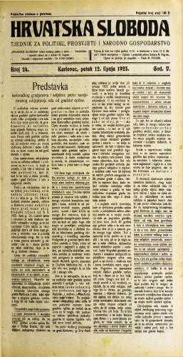 Hrvatska sloboda: 1925. • 24