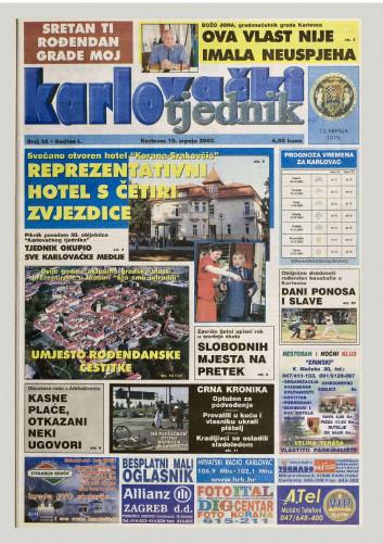 Karlovački tjednik: 2003 • 28