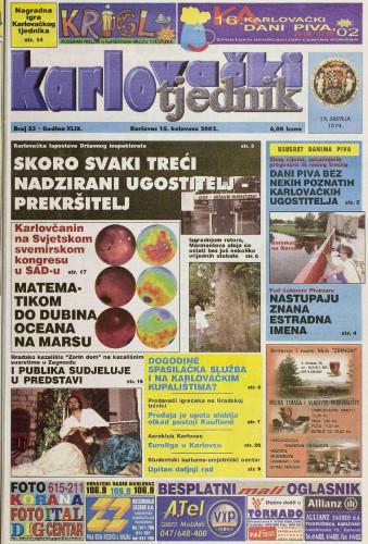 Karlovački tjednik: 2002 • 33