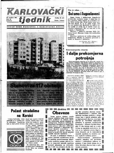 Karlovački tjednik: 1981 • 49