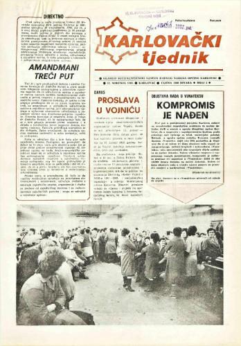 Karlovački tjednik: 1989 • 2