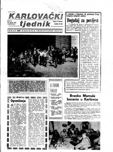 Karlovački tjednik: 1984 • 24