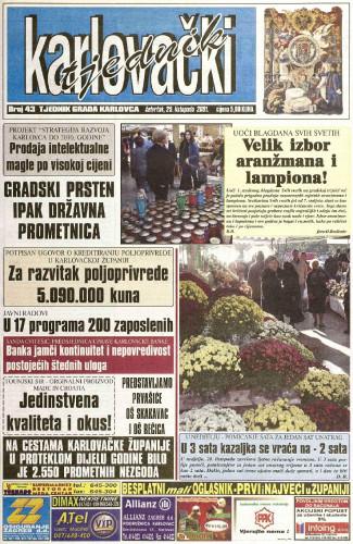 Karlovački tjednik: 2001 • 43