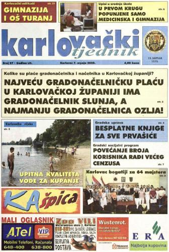 Karlovački tjednik: 2005 • 27