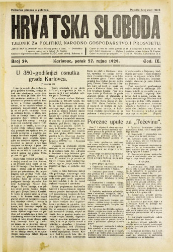 Hrvatska sloboda: 1929. • 39