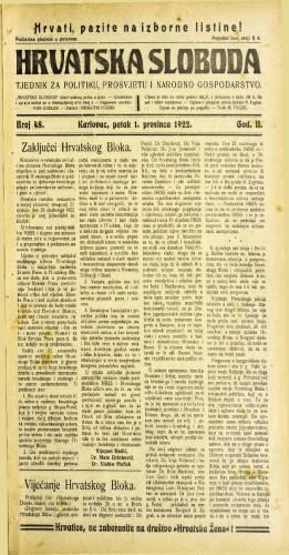 Hrvatska sloboda: 1922 • 48