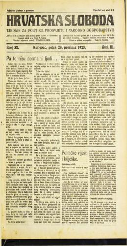 Hrvatska sloboda: 1923 • 52