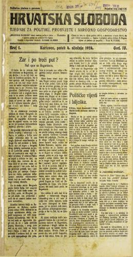 Hrvatska sloboda: 1924. • 1