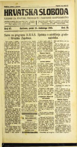 Hrvatska sloboda: 1923 • 47
