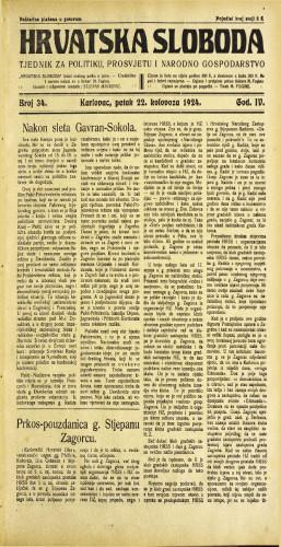 Hrvatska sloboda: 1924. • 34