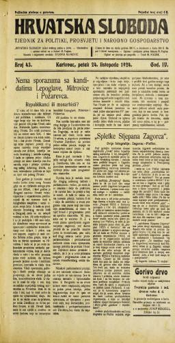 Hrvatska sloboda: 1924. • 43