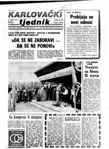 Karlovački tjednik: 1981 • 23