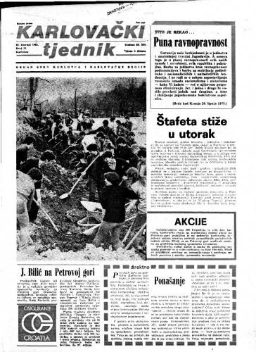 Karlovački tjednik: 1981 • 15
