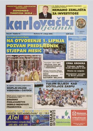 Karlovački tjednik: 2004 • 21