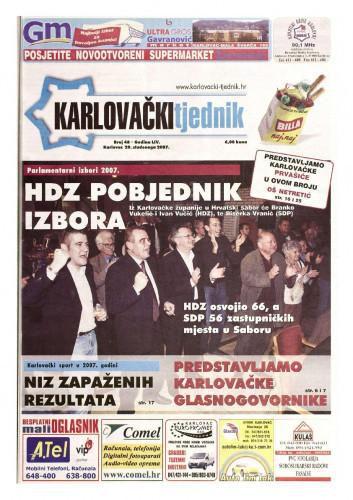 Karlovački tjednik: 2007 • 48