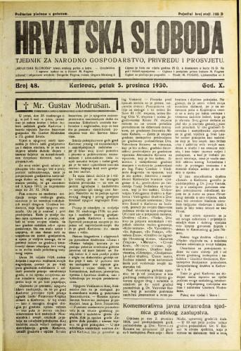 Hrvatska sloboda: 1930. • 48
