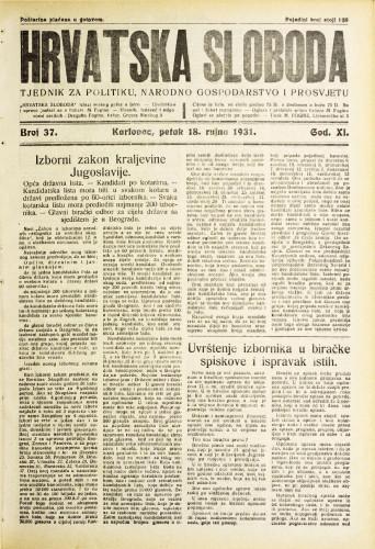 Hrvatska sloboda: 1931. • 37