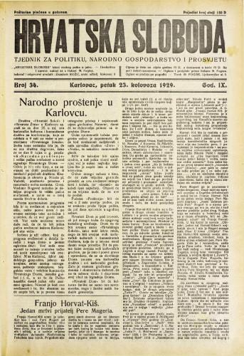 Hrvatska sloboda: 1929. • 34