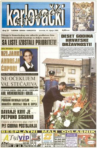 Karlovački tjednik: 2000 • 21