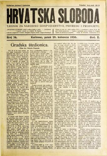 Hrvatska sloboda: 1930. • 34