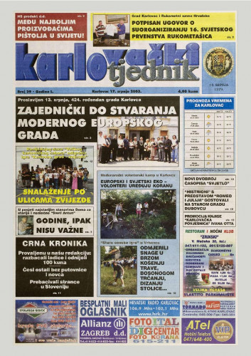 Karlovački tjednik: 2003 • 29