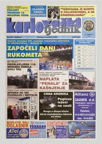 Karlovački tjednik: 2003 • 49
