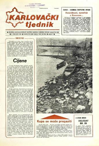 Karlovački tjednik: 1989 • 5