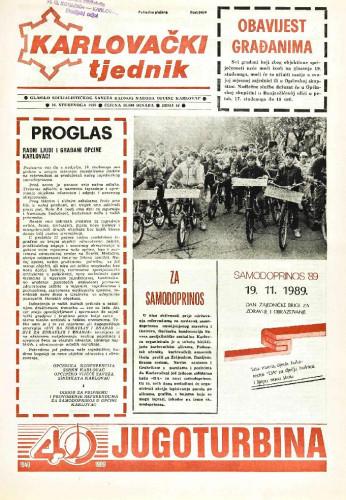 Karlovački tjednik: 1989 • 46