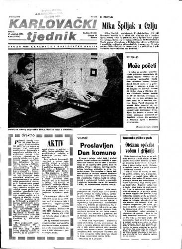 Karlovački tjednik: 1985 • 2